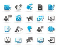 Internet Marketing and commerce icons Stock Images