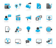 Internet Marketing and commerce icons Royalty Free Stock Image