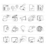 Internet Marketing and commerce icons. Vector icon set Stock Photo