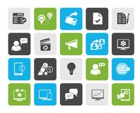 Internet Marketing and commerce icons. Vector icon set royalty free illustration