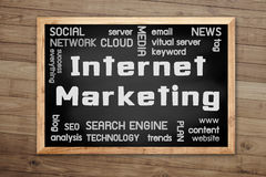 Internet Marketing concept on chalkboard and background with Bro Royalty Free Stock Photos