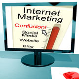 Internet Marketing Confusion Shows SEO Royalty Free Stock Photo