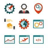 Internet marketing flat icons Stock Photo