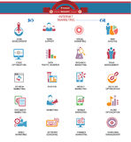 Internet Marketing icons,Colorful version Stock Images