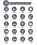 Internet Marketing icons,Gray version.  Stock Photography