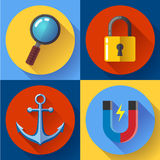 Internet marketing icons set. Flat design style. Stock Images