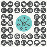 Internet marketing icons set. Stock Photography