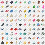 100 internet marketing icons set. In isometric 3d style for any design vector illustration stock illustration