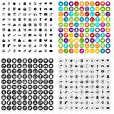100 internet marketing icons set vector variant. 100 internet marketing icons set vector in 4 variant for any web design isolated on white Royalty Free Stock Image