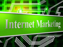 Internet Marketing Indicates World Wide Web And Network Royalty Free Stock Image