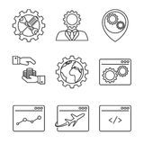 Internet marketing line icons Royalty Free Stock Images