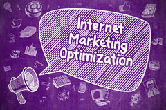Internet Marketing Optimization - Business Concept. Royalty Free Stock Photos