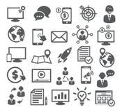 Internet-Marketing Pictogrammen stock illustratie