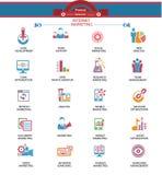 Internet-Marketing pictogrammen, Kleurrijke versie Stock Afbeeldingen
