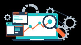 Internet Marketing SEO Animation Transparent Vector Motion Graphics