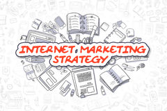 Internet Marketing Strategy - Business Concept. Stock Photography