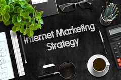 Internet Marketing Strategy Concept. 3D render. Royalty Free Stock Photography