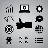 Internet marketing symbol Royalty Free Stock Photos