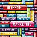 Internet Marketing tech pattern Stock Photography