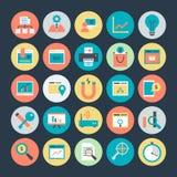 Internet-Marketing- und Netzoptimierung Vector Ikonen 3 Lizenzfreies Stockbild