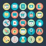 Internet-Marketing- und Netzoptimierung Vector Ikonen 2 Lizenzfreie Stockfotografie