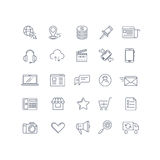 Internet marketing vector line icons set Stock Images