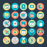 Internet Marketing and Web optimization Vector Icons 2 Royalty Free Stock Photography