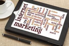 Internet-marketing woordwolk Stock Foto's