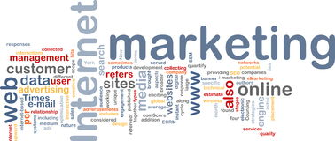 Internet marketing word cloud Royalty Free Stock Photography