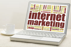 Internet marketing word cloud Stock Photos