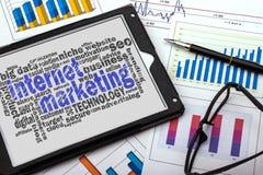 Internet marketing word cloud Royalty Free Stock Photo