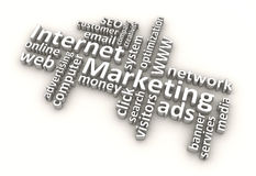 Internet Marketing Words (White) Stock Photo