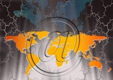 Internet-Mededelingen - Voorzien van een netwerk Stock Afbeelding