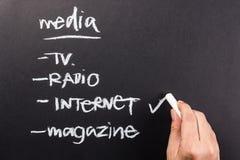 Internet-media royalty-vrije stock foto's