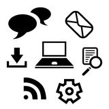 Internet Media and communication icon Royalty Free Stock Photo