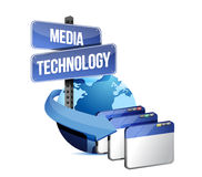 Internet media technology concept Royalty Free Stock Image