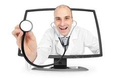 Internet medical doctor Royalty Free Stock Photos