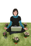 Internet meditation Stock Photos