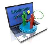 Internet meeting of businessmen royalty free stock photos