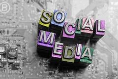 Internet, meios sociais & de Web site do blogue ícone do projeto Foto de Stock Royalty Free
