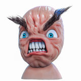 Internet meme Rage Anger face. 3d illustration. Isolated Stock Photography