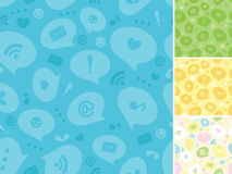 Internet message symbols seamless pattern Stock Photos