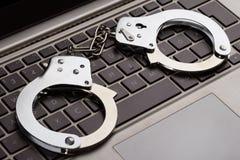 Internet-misdaad royalty-vrije stock afbeeldingen