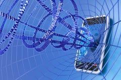 Internet mobile Immagine Stock