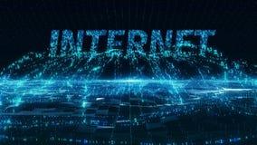 Internet mobile blue digital concept 4k uhd stock video footage