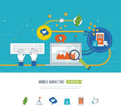 Internet and mobile marketing concept.  Online shopping. Investment business. Royalty Free Stock Images