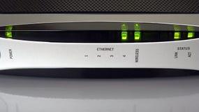 Internet Modem. Front face of a wireless internet modem Royalty Free Stock Photos
