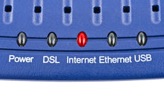 Internet modem Stock Image