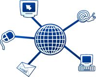 Internet molecule Royalty Free Stock Image