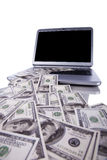 Internet money Stock Photography